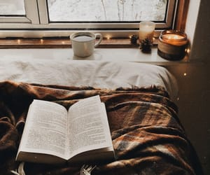 book, autumn, and winter image