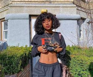 abs, outdoors, and short curly hair image