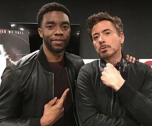 Marvel, robert downey jr, and chadwick boseman image