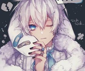 art, silver hair, and anime boy image