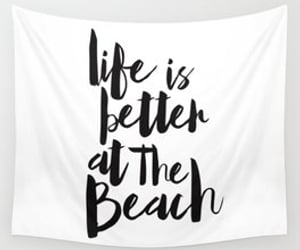 beach, black and white, and home image