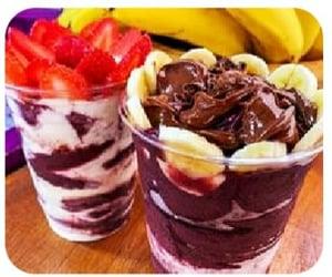 bananas, dessert, and chocolate image