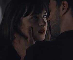 dakota johnson, christian grey, and anastasia steele image