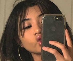 lips, sitemodel, and mirror selfie image