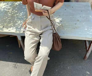beige, style, and cute outfit image