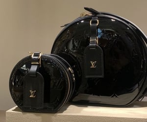 black, Louis Vuitton, and bags image