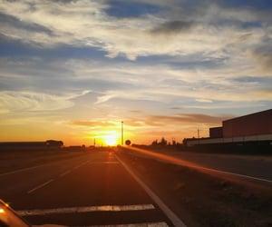 sunset and puesta de sol image
