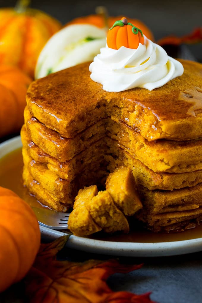 breakfast time, eat a meal, and pumpkin pancakes recipe image