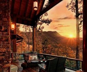 nature, sunset, and autumn image