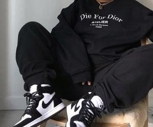 black, nike, and dior image