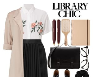 fashion, librarian, and cute image