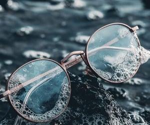 glasses, sea, and wallpaper image