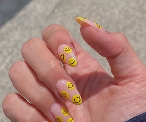nails, yellow, and smile image