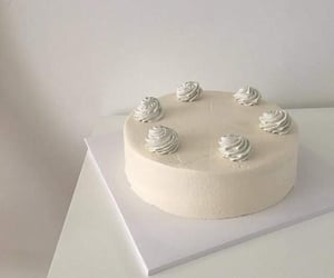 cake, white, and food image