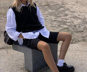 black shoes, cute summer outfit, and fashion style mode image