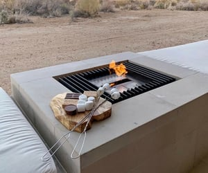 fire, smores, and travel image
