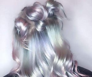 glossy, grey, and hair image
