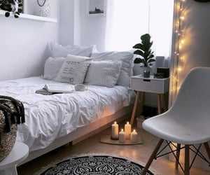 bedroom, home, and light image