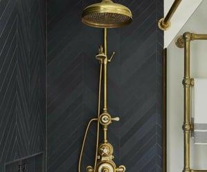 bath, design, and golden image