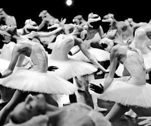 ballet black and white image