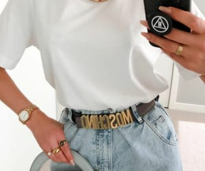 blogger, gold necklace, and outfit image