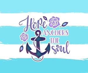anchor, stripes, and girly image