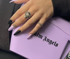 black, nails, and purple image