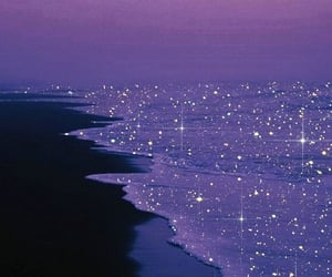 glitter, ocean, and purple image