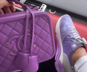 bags, handbags, and purple image