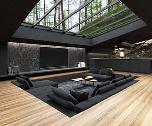 black, interior, and home image
