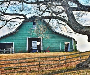 fence, barn, and country living image