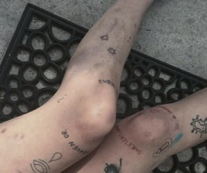 tattoo, aesthetic, and legs image