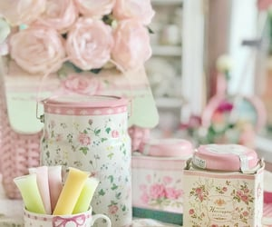 floral, flowers, and jars image