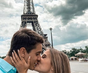 boy, couple, and eiffel tower image