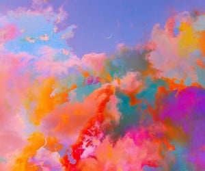 ciel, multicolored, and nuages image
