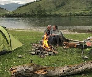 bonfire, campfire, and camping image