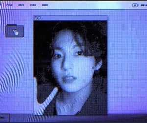 blue, cyber, and jungkook image