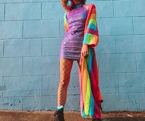 fashion, hippie, and rainbow image