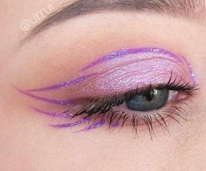 eye, purple, and makeup image