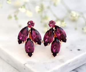 etsy, swarovski earrings, and purple earrings image