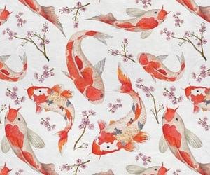 fish, wallpaper, and koi image
