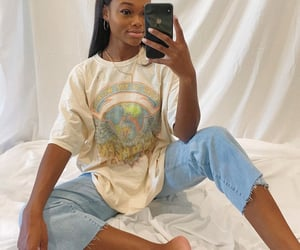 black women, denim, and goals image