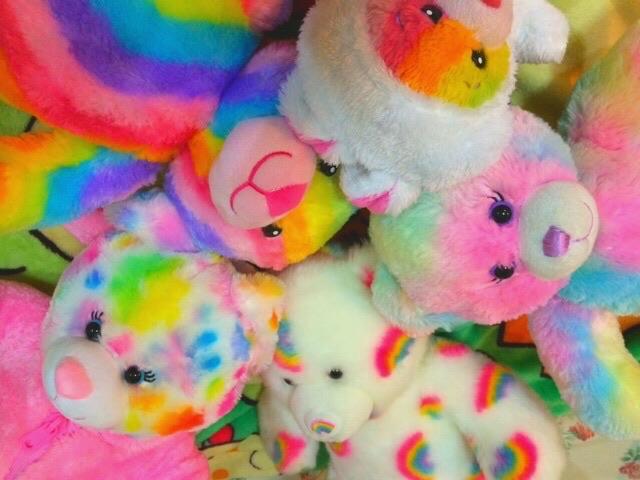 rainbow, bear, and toys image