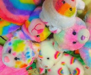rainbow, bear, and toys image