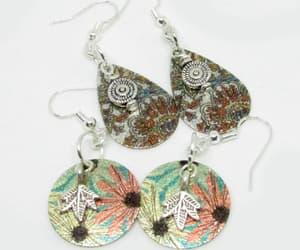 earrings, etsy, and flower earring image