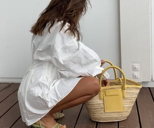 White Summer Dress, everyday look, and long sleeve dress image