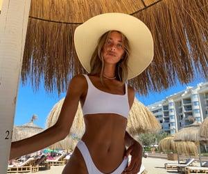 bikini, legs, and hat image