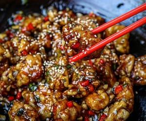 fried chicken, spicy, and garlic image