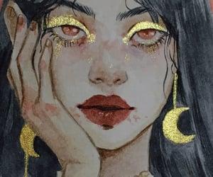 art, girl, and glitter image