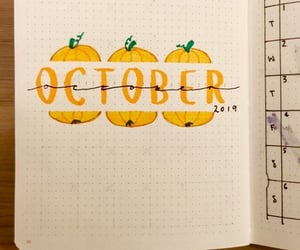 diy, october, and bullet journal image